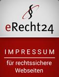 Rechtssicheres Impressum unterstützt von e-recht24.de